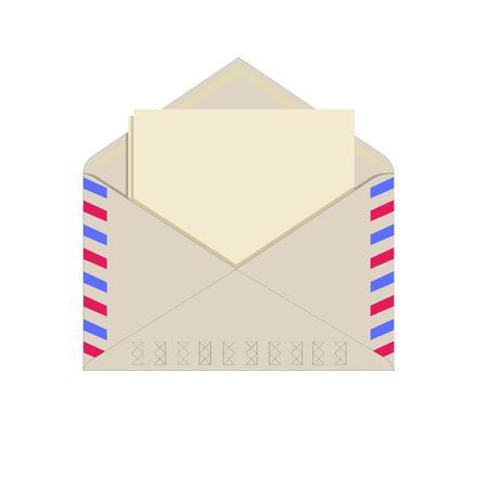 기밀: Paper in an envelope, blank paper for your own text, isolated on white