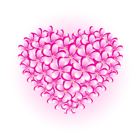 Flower heart, isolated, vector, 8 format Vector