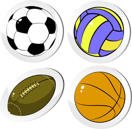 Four balls, isolated on white, vector Vector
