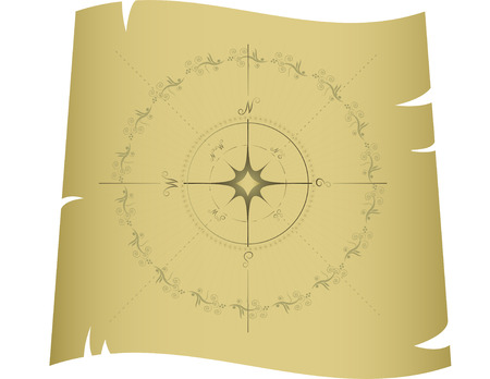 orienteering: Compass. vector, isolated on white