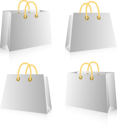 Shopping bags, isolated on white, vector Stock Vector - 4755786