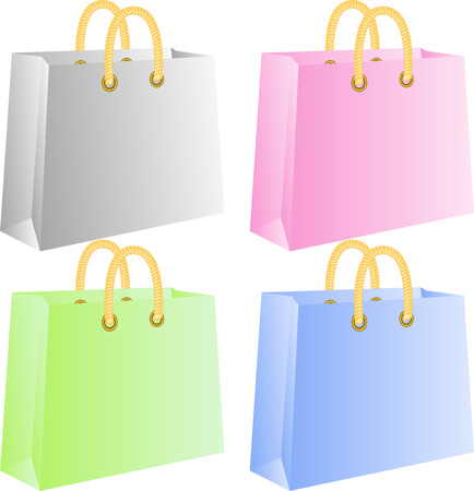 Shopping bags, isolated on white, vector Stock Vector - 4755785