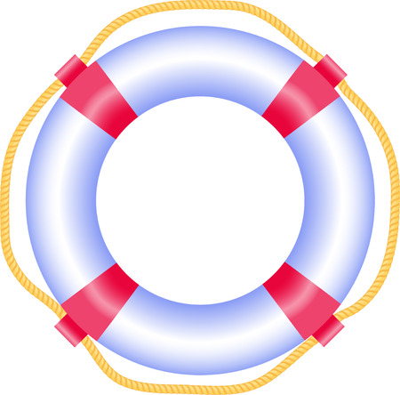 Lifebuoy, isolated on white, vector Vector