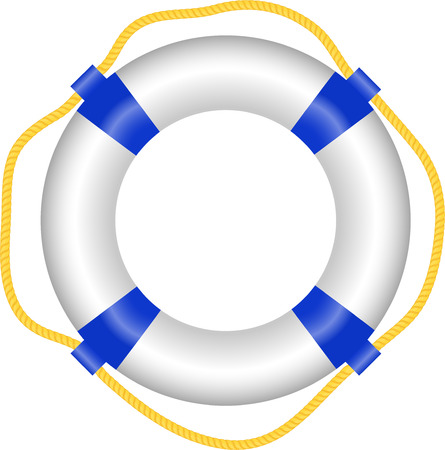 Lifebuoy, aislado en blanco, vector