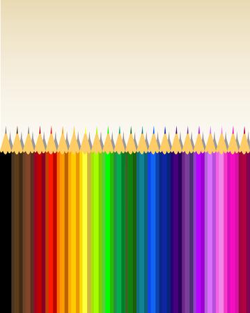 Crayons de couleurs, fond vecteur Vecteurs