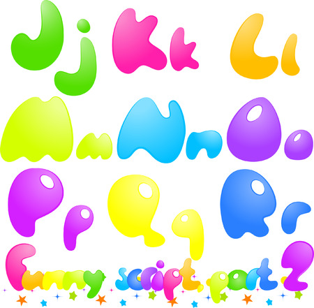 font alphabet: Funny font, alphabet, numbers, isolated on white, vector. You can easily change the color of the letters