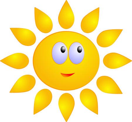 Sun, vector isolated on white Vector