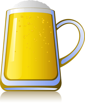 Mug of beer, isolated on white, vector Stock Vector - 4965877
