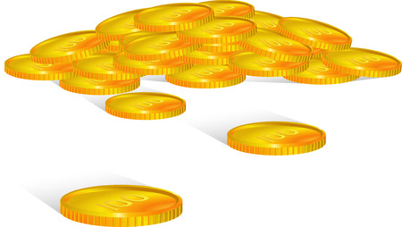 dime: Vector coins. isolated on white Illustration