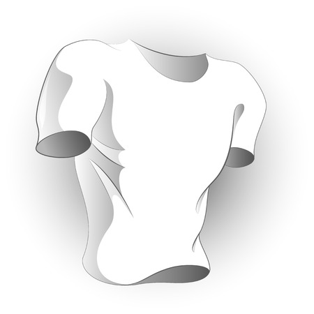 Vector white T-shirt especially for your logo! Isolated. Vector