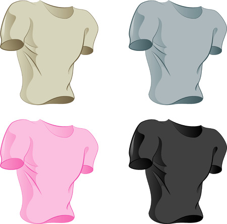 Four colored T-shirts for your logo! Vector