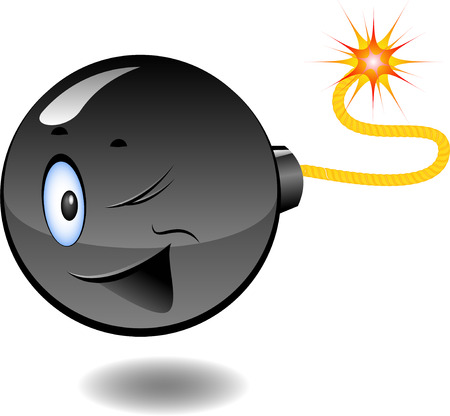 Bomb - series of caricatures of bombs Vector