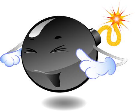 bombing: Bomb - serie van karikaturen van bommen Stock Illustratie