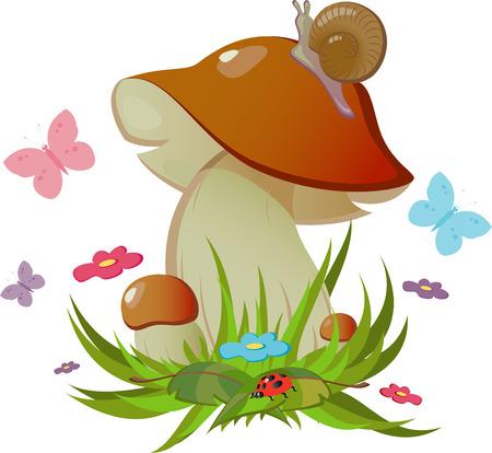 mushroom cartoon: mushroom