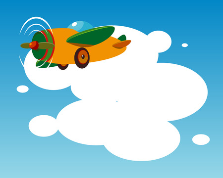 Background with plane. Stock Vector - 6298308