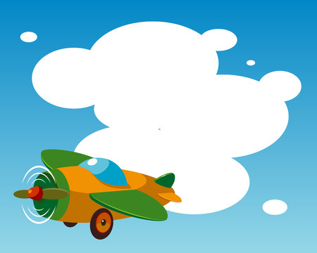 Background with plane. Vector