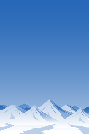 snowcapped mountain: Mountain Background. Illustration