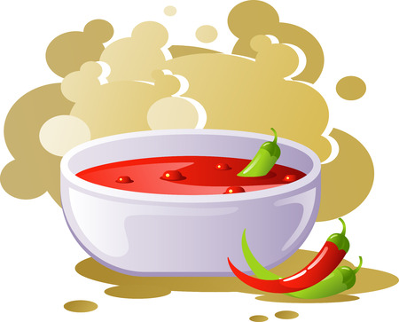 Spicy chili soup Vector