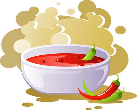 pungent: Zuppa di peperoncino rosso piccante
