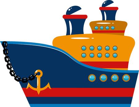 navire: Navire de croisi�re de passagers sur blanc
