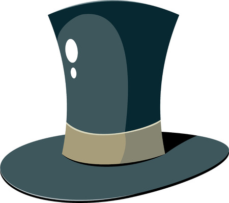 stovepipe: Top Hat over white. EPS 8 Illustration