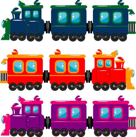 tren caricatura: Trenes de vector  Vectores