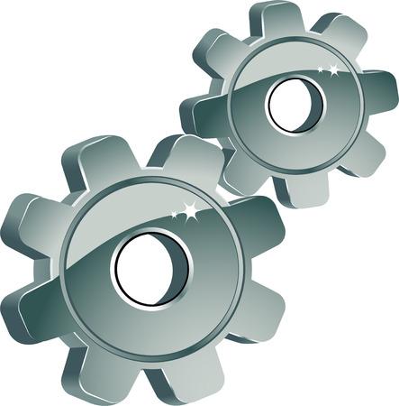 tandwielen: Gears in wit