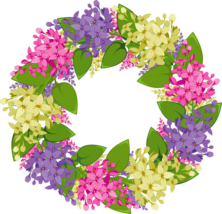 wreath of twigs of lilac Stock Vector - 6677858