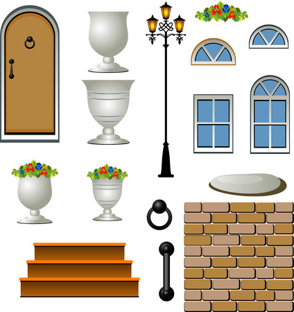 Home Building Components Vector