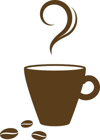Kop warme koffie  Vector Illustratie