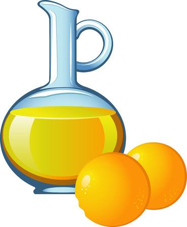 Orange juice in a glass jar. EPS 8 Stock Vector - 6807587