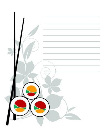 Menu Japanese restaurant.  illustration. EPS 8 Stock Vector - 7040500