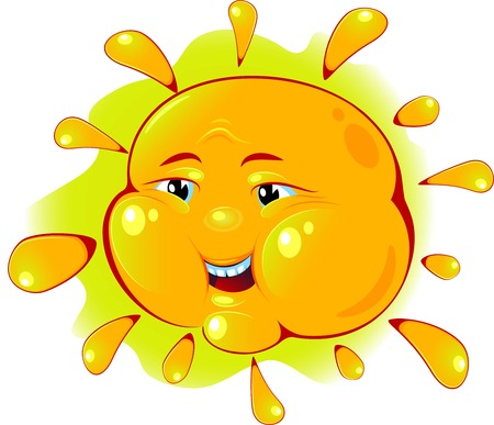 image of sun over white. EPS 8 Stock Vector - 7088824