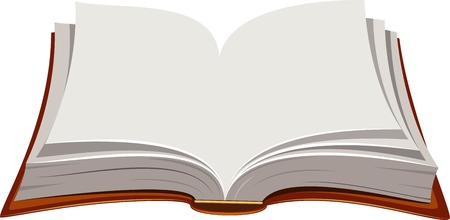 image of open book over white. EPS 8 Vector