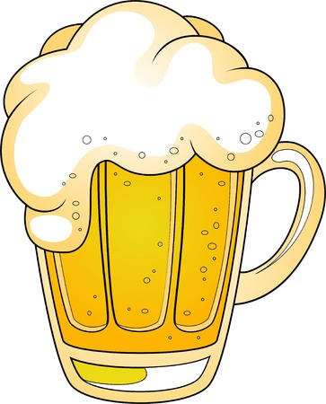 cerveza negra: Jarra de cerveza. ilustraci�n en blanco. EPS 8