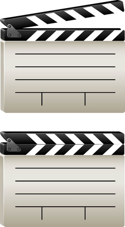 illustrator of a movie clapper board Stock Vector - 7376666
