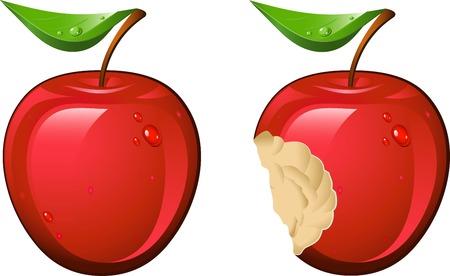 apple bite: Juicy and ripe apple!