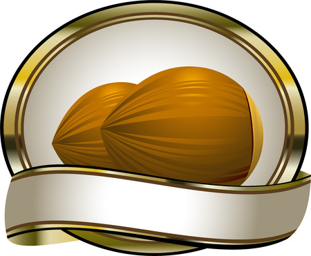 Label for hazelnut products. EPS 8 Vector