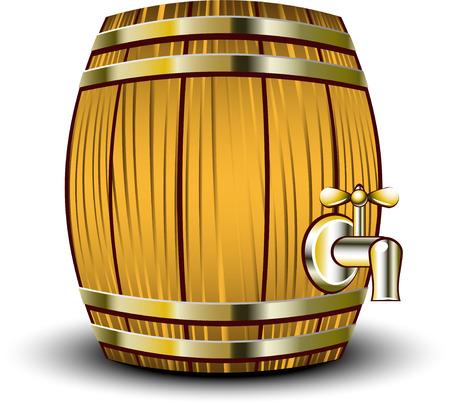 wood barrel: Wooden barrel