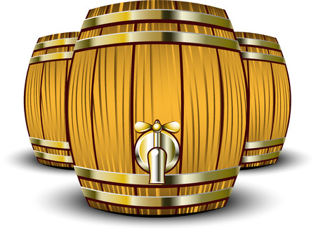 lager beer: Wooden Barrels