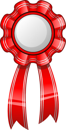 ai: Award badge with a red ribbon. AI 8 Illustration