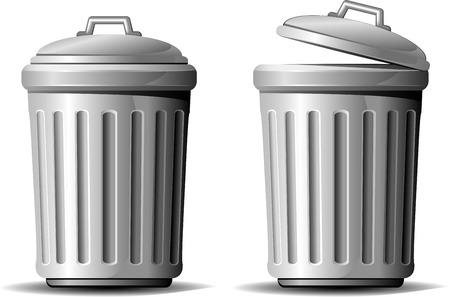 Trash can. AI 8 Vector