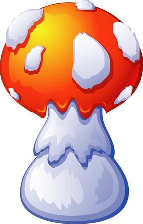 uneatable: Fly Agaric Mushroom. AI 8 Illustration