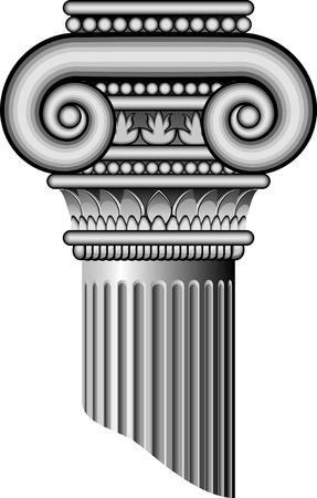 Ionic columns AI 8 Vector