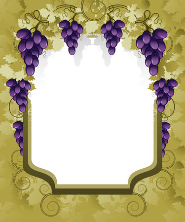 label frame: Grape Background.