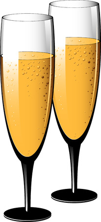 Two glasses of champagne. Stock Vector - 7833150