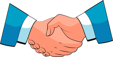 equal opportunity: Business handshake.  over white.