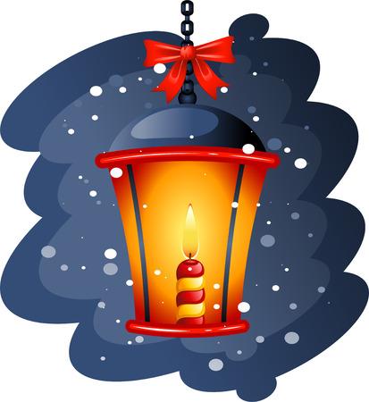 Christmas Street Lamp. EPS8 Vector