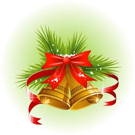 Christmas bells. Vector over white. EPS 8 Stock Vector - 8080569