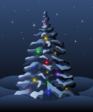 illustration of Christmas tree.   Stock Vector - 8153719